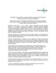 TerreStar Successfully Launches World's Largest, Most Powerful ...