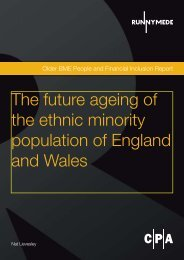 The future ageing of the ethnic minority population - Runnymede Trust