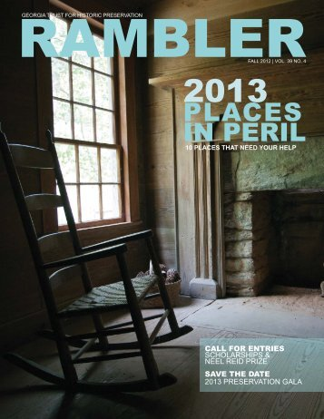 Fall 2012 - The Georgia Trust for Historic Preservation