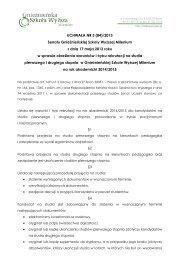 Zobacz warunki rekrutacji na rok akademicki 2014/2015 - Milenium