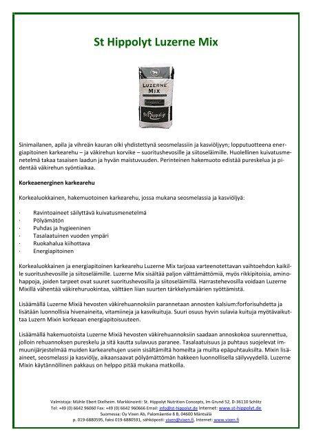 St Hippolyt Luzerne Mix - Vixen Oy Ab