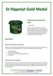 St Hippolyt Gold Medal Lihasmassaa suoritusky- kyyn - Vixen Oy Ab