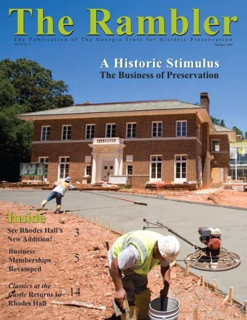 Summer 2009 - The Georgia Trust for Historic Preservation