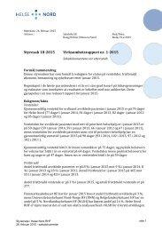 Styresak 18-2015 Virksomhetsrapport nr 1-2015