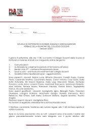 Collegio docenti del 08/09/2011 - Università degli Studi di  Padova