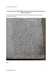 Acte de cession de la LANNERS Vogtey à Consthum par Wilhelms ...