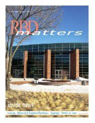 RBD Matters Newsletter - Pikes Peak Regional Building Department