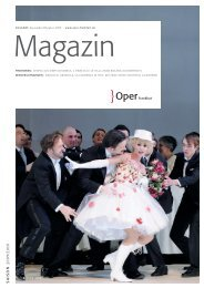 Opernmagazin August - Oktober 2009 - Oper Frankfurt