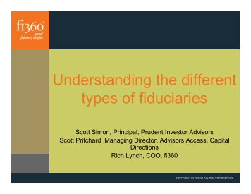 Understanding the different types of fiduciaries - Fi360