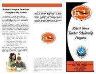 View brochure - The Robert Noyce Scholarship Program