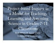 Project-based Inquiry as a Model for Teaching, Learning, and ...