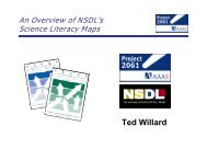 Using the Atlas of Science Literacy and the NSDL Science Literacy ...