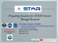 Preparing Students for STEM Careers through Research