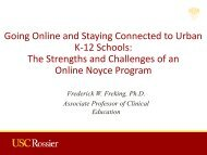Going Online and Staying Connected to Urban K-12 Schools: The ...