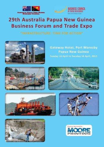 29th Australia Papua New Guinea Business Forum and Trade Expo