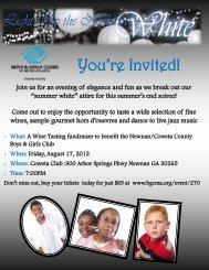 You're Invited! - Boys & Girls Clubs of Metro Atlanta