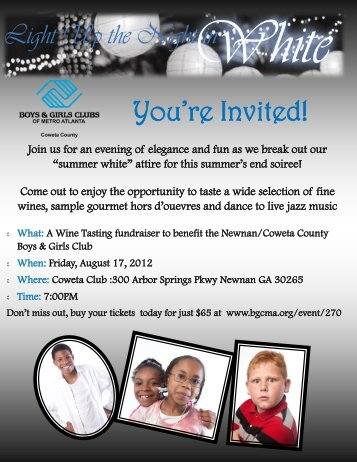 You're Invited! - Boys & Girls Clubs of Metro Atlanta
