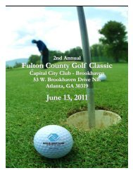 Fulton County Golf Classic June 13, 2011 - Boys & Girls Clubs of ...