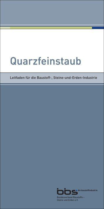 Quarzfeinstaub Quarzfeinstaub - Verband der Deutschen Feuerfest ...