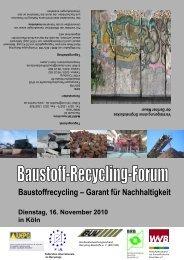 Baustoffrecycling – Garant für Nachhaltigkeit - Bundesvereinigung ...