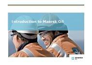 Company Presentation - Maersk Oil