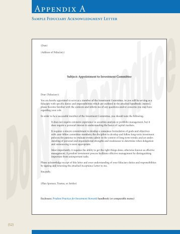 sample fiduciary acknowledgment letters fi360