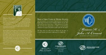 Planned Giving Brochure - Boys & Girls Clubs of Metro Atlanta