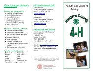 4-H Brochure - Cornell Cooperative Extension of Niagara County