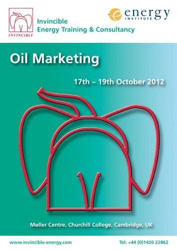 Oil Marketing - Invincible Energy
