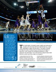 Basketball Sports Nutrition