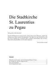 Kirchenführer der St.-Laurentius-Kirche Pegau - Ev.-Luth. Kirchspiel ...