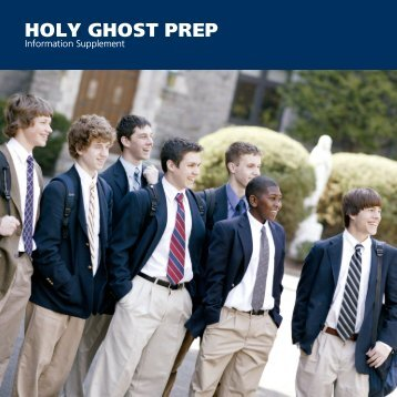 INFO SUP 08 09 - Holy Ghost Preparatory School