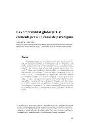 La comptabilitat global (CG): elements per a un canvi de ... - accid