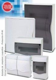 Armarios de empotrar y superfície - Protección IP-40