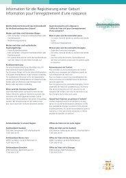 Information für die Registrierung einer Geburt ... - Klinik Linde