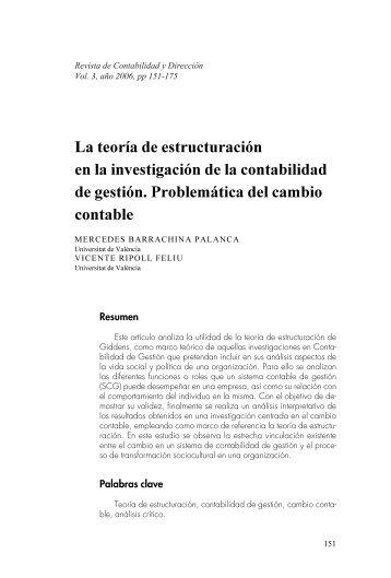 La teoría de estructuración en la investigación de la ... - accid