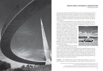 nachO López. FOtOGraFía y arQuItectura - Centro de la Imagen