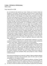 CUBA: CRóNICA PERSONAL - Centro de la Imagen