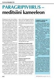PARAGRIPIVIIRUS – meditsiini kameeleon - Hambaarst.ee