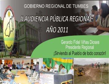 Actividad - Gobierno Regional TUMBES