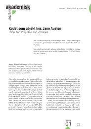 Kødet som abjekt hos Jane Austen • Jørgen Riber Christensen