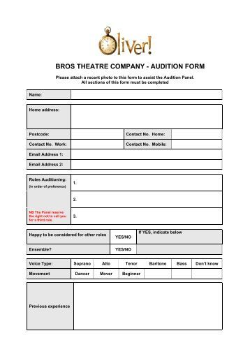 audition form beenleigh theatre group. Black Bedroom Furniture Sets. Home Design Ideas