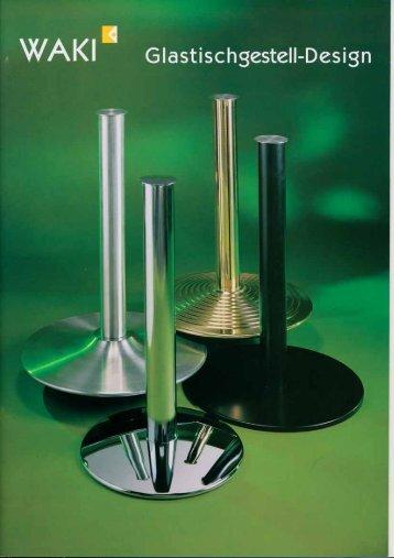 Tischgestelle für Glasplatten, Stahl verchromt - Waki Killmer GmbH