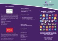 Download Conference Brochure - CASA - Counselling Association ...
