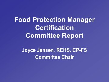 Food Protection Manager Certification 1, Jensen - Conference for ...