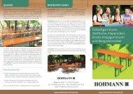 HOHMANN GmbH - Bierzeltgarnituren, Biergartenmöbel und ...