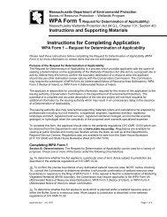 Request for Determination of Applicability - Mass.Gov