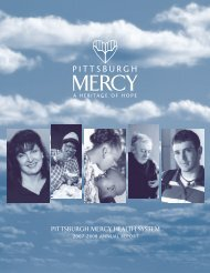 Pittsburgh Mercy Health System 2007-2008 Annual Report