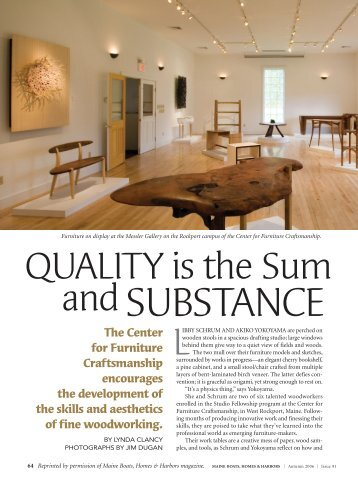 Maine Boats Homes & Harbors magazine article about the school ...