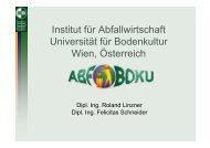 Präsentation Uni BOKU, Wien (Frau F. Schneider) 2,66 MB - an den ...